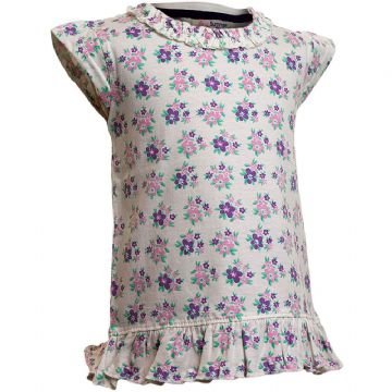 Girls Floral Cap Sleeved T-Shirts (6-23mnths 6 Pack)